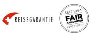 Logo Reisegarantie und Fair ankommen